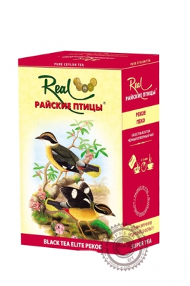 """Чай Real """"Райские птицы"""" черный PEKOE, 100г"""