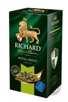 "Чай RICHARD ""Royal Green"" зеленый в пакетиках 25шт по 2г"