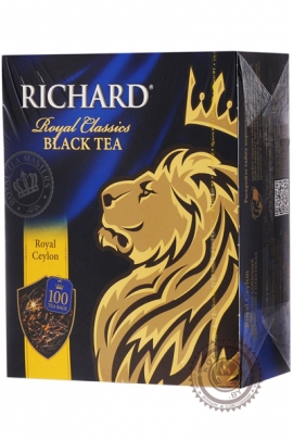 """Чай RICHARD """"Royal Ceylon"""" черный в пакетиках, 100 шт"""