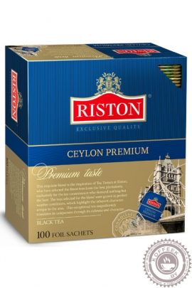 """Чай RISTON """"Ceylon Premium"""" 100 пак черный"""