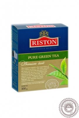 "Чай RISTON ""Pure green tea"" 100г зеленый крупнолистовой"