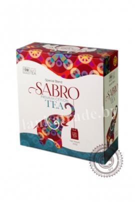 Чай SABRO черный 100 пакетов 200г