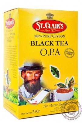 """Чай ST.CLAIR'S """"O.P.A."""" 250г чёрный крупнолистовой"""