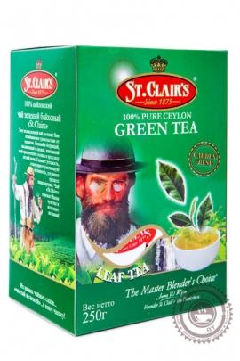 Чай ST.CLAIR'S 250г зелёный крупнолистовой
