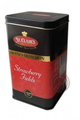 Чай ST.CLAIR'S Strawberry Fields черный с клубникой 100г в ж/б