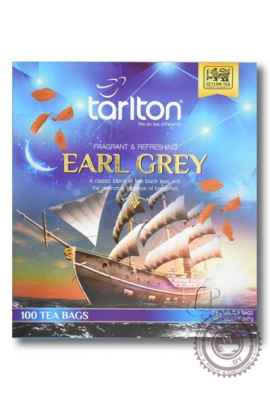 "Чай Tarlton ""Earl Grey"" черный с бергамотом 100 пакетов по 2гр"
