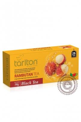 "Чай Tarlton ""Rambutan"" черный 25 пак по 2гр"