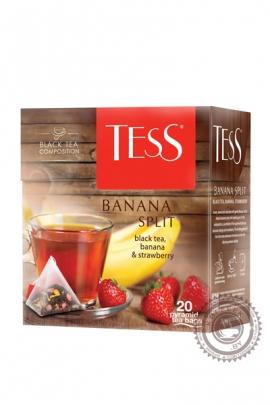 """Чай TESS """"Banana Split"""" черный фруктово-ягодный 20 пирамидок"""