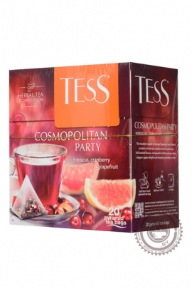 """Чай TESS """"Cosmopolitan party"""" (клюква+апельсин+мята) 20 пир ягодно-травяной"""