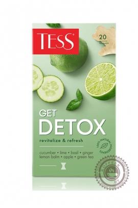 """Чай TESS """"Get Detox"""" зеленый 20 пакетиков"""