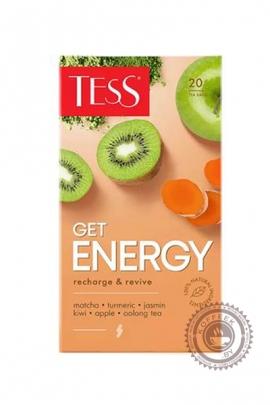 """Чай TESS """"GET ENERGY"""" зелёный 20 пакетиков"""