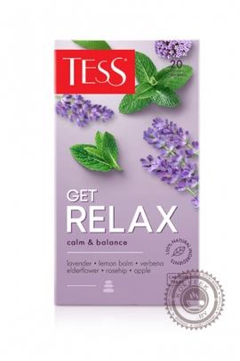 """Чай TESS """"Get RELAX"""" травяной 20 пакетиков"""