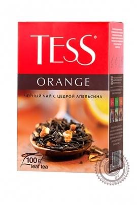"""Чай TESS """"Orange"""" (апельсин+личи) 100г чёрный"""