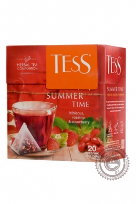 "Чай TESS ""Summer Time"" (клубника+малина+шиповник) 20 пир ягодно-травяной"