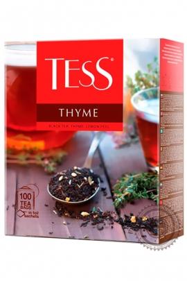 """Чай TESS """"Thyme"""" черный 100 пакетов с чабрецом и цедрой лимона"""