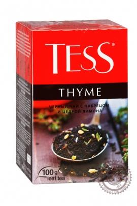 """Чай TESS """"Thyme"""" черный 100г с чабрецом и цедрой лимона"""