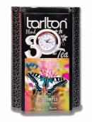 "Чай Tarlton ""Butterfly"" с кварцевыми часами 200г черный"