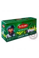 Чай ST.CLAIR'S 25 пак зелёный