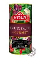 """Чай HYSON """"EXOTIC FRUITS"""" 100г ж/б черный"""