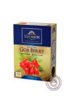 """Чай THURSON """"GOJI BERRY"""" черный с добавками 100г"""