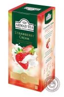 """Чай AHMAD """"Strawberry Cream"""" черный 25 пакетов"""