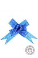 "Бант-бабочка №3 ""Капли дождя"", цвет синий"