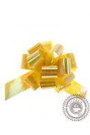 """Бант """"Шар"""" перламутровый, желтый"""