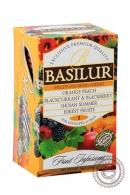 """Чай BASILUR """"Fruit Infusions """"Assorti"""" фруктовое ассорти 20 пакетов"""