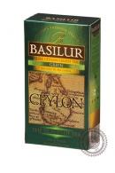 """Чай BASILUR """"Остров Цейлон"""" зелёный 25 пакетов"""
