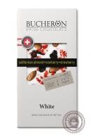 "Шоколад ""Bucheron"" белый, миндаль, клюква, клубника 100 г"