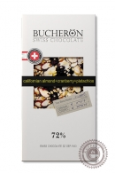 """Шоколад """"Bucheron"""" горький с фисташками, клюквой и клубникой 100 г"""
