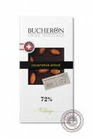"Шоколад ""Bucheron"" горький с миндалём 100г"