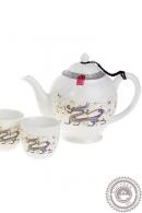 """Набор для чайной церемонии """"Дракон"""", 7 предметов: чайник 800 мл, 6 чашек 100 мл"""
