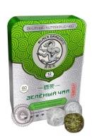 """Чай Чёрный Дракон """"Зеленый прессованный"""" 60 г в ж/б"""