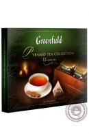 Набор листового чая и чайного напитка Greenfield в пакетиках-пирамидках, 12 видов