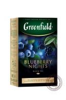 """Чай GREENFIELD """"Blueberry nights"""" (с черникой и ежевкой) 100г черный"""