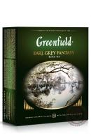 "Чай GREENFIELD ""Earl Grey Fantasy"" (с бергамотом) 100 пак чёрный"