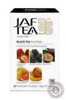 """Чай JAF TEA """"Fruit Fiesta"""" (фруктовая фиеста) 20 пакетов черный"""