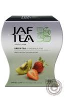 """Чай JAF TEA """"Strawberry & Kiwi"""" (клубника+киви) 100г зелёный"""