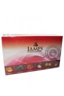 """Чай James & Grandfather """"Fruity Assortment """" черный 60 пакетов с фруктами 120 г"""