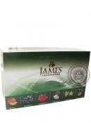 """Чай James & Grandfather """"Fruity Assortment """" зеленый 60 пакетов с фруктами 120 г"""