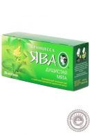 """Чай ПРИНЦЕССА ЯВА """"Душистая Мята"""" 25 пакетов зеленый"""