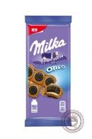 """Молочный шоколад """"Milka"""" с круглым печенье """"Орео"""""""