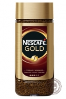 Кофе «Nescafe» Gold 190г растворимый сублимированный с добавлением молотого