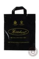 """Пакет """"Хатчард"""" черный, полиэтиленовый с петлевой ручкой, 30 х 33 см, 90 мкм"""