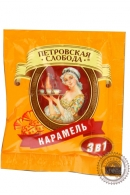 """Кофе Петровская Слобода """"Карамель"""" растворимый 25 пакетов по 20г"""