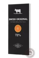 Шоколад SWISS ORIGINAL, горький с кусочками апельсина 100 г