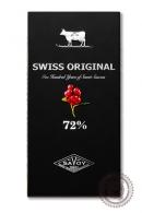 Шоколад SWISS ORIGINAL, горький с клюквой 100 г