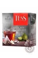 """Чай TESS """"Earl Grey Secret"""" (бергамот) черный 20 пирамидок"""