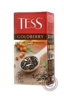 """Чай TESS """"Goldberry"""" черный 25 пакетов с айвой и облепихой"""